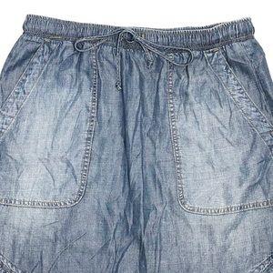 Anthropologie Skirts - Cloth & Stone | Chambray Drawstring Skirt